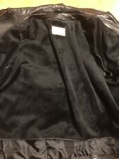 DESERT WELL Black Genuine BUTTER SOFT  LEATHER JACKET COAT REMOVABLE  LINING 6xl