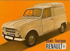 Renault 4 Fourgon 6cwt Van 1970-71 UK Market Foldout Sales Brochure