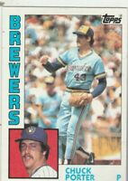 FREE SHIPPING-MINT-1984 Topps #452 Chuck Porter Brewers PLUS BONUS CARDS