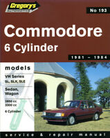 Holden Commodore VH 6Cyl 1981-1984 Gregory's Workshop Service Repair Manual