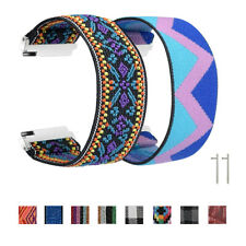 Bohemian Elastic Nylon Band Strap For Samsung Galaxy Watch 46mm 42mm Active 2