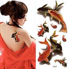 3D Tatouage Temporaire 19x9cm étanche Neuf Collection (3D-29)