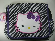 Hello Kitty Canvas Messenger Shoulder Crossbody Bag New