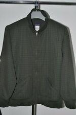 Mens Patagonia Jacket Dark Green Full Zip Bomber Fleece Lined Size L VTG