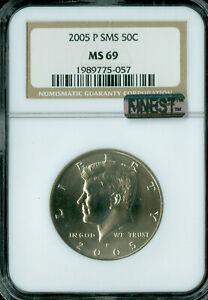 2005-P KENNEDY HALF DOLLAR NGC MS69 SMS MAC FINEST REGISTRY MAC SPOTLESS  *