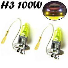 2x H3 100W 12V PK22s Jurmann Aqua Vision Headlight Gelb Scheinwerfer Licht Birne