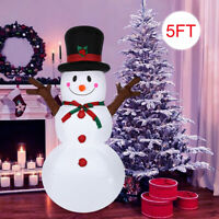 Christmas 5Ft Inflatable Snowman With Sign Blow Up LED Lights Outdoor Yard Decor