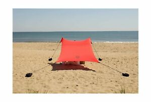 Neso Tents Beach Tent Sand Anchor Portable Canopy Sunshade Sporting Goods Red