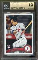 2011 Topps Update #US175 Mike Trout Rookie Card BGS 9.5 (9 9.5 9.5 10)
