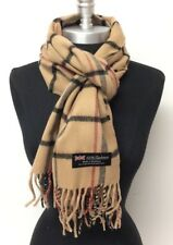New Women's Winter Warm 100% Cashmere Scarf Wrap SCOTLAND Plaid Camel/Black/Red