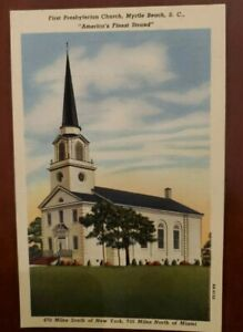 First Presbyterian Church Myrtle Beach South Carolina Vintage Postcard