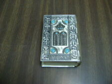 Hebrew Metal Five Books of Moses and Haftorahs, Hebrew/English Metal Bible 1969
