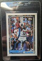 1992 93 TOPPS #362 SHAQUILLE O'NEAL ROOKIE CARD RC ORLANDO MAGIC HOF NO FOIL ERR