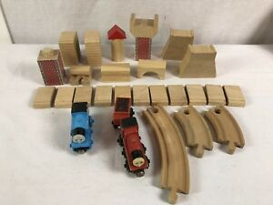 Lot of 29 Thomas & Friends the Train Engine Wooden Railway Tank Accessories Wood