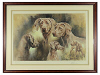 Mick Cawston - 'Weimaraners' - Limited Edition Signed Print. Gundogs