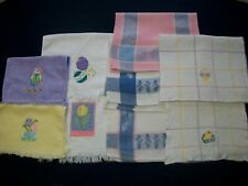 9 Vintage Easter Spring Hand Towels Various Sizes and prints