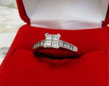 Anillos de joyería con diamantes anillo de compromiso, princesa SI2