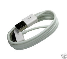 10x Ladekabel Kabel iPhone 4s 4 3GS 3G Datenkabel iPad iPod 1m Meter USB Weiß