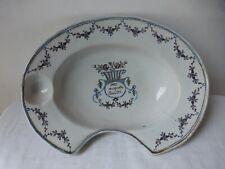 Ancien plat à barbe faience Nevers. Fin18/début19ème. Antique ceramic beard dish