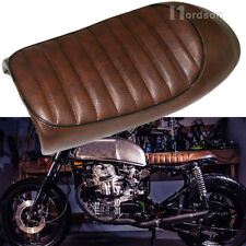 New Motorcycle Brown Flat Brat Style Tracker Cafe Racer Seat For Honda CB CG 12