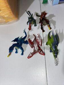 Assorted Dragon Figures Lot
