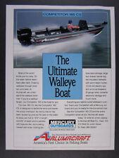 1991 Alumacraft Competitor 185 CS Fishing Boat vintage print Ad