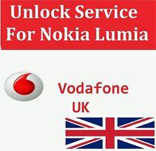 Unlock Code SERVICE For Nokia Lumia 610 625 630 635 640 645 650 for VODAFONE UK