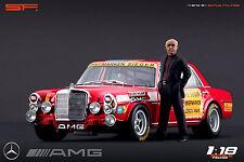 1/18 Hans-Werner Aufrecht AMG VERY RARE!!! figures for 1:18 CMC Mercedes Autoart