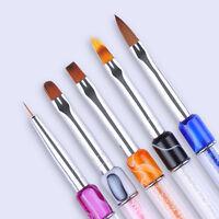 Nagel UV Gel Liner Pinsel Gradient Straßsteine Griff Malerei Pen Nail Art Tool