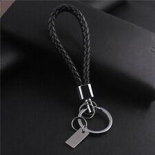 Llavero De Cuero Unisex Anillo Keyfob Keyring Llavero Regalo Negro Coche Accesorios