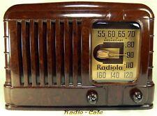 BEAUTIFUL! Deco 1940 Pre War ORIGINAL RCA RADIOLA Bakelite Tube Radio CLASSIC!