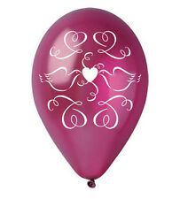 """Pearlised Love Dove Balloons 12"""" Wedding Anniversary Engagement 10pcs 4 colours"""