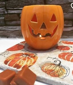 Halloween Ceramic Pumpkin Candles Holders with Wax Melt Scented