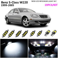 19Pc HID Cool White 6000K Interior Light Kit LED Fit 1999-2005 Benz S-Class W220