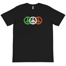 Irish Flag Peace Sign Symbol Organic Cotton T-Shirt St. Patricks Day Ireland