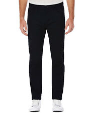 Perry Ellis Mens Slim-Fit Stretch Pants (Black,36x30)