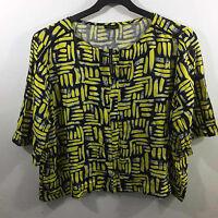 River Island Ladies Top Yellow Print Size UK 14 BNWT