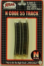 """NIB N Atlas #2019 Code 55 15""""r Half Curve Track 6 Pieces"""