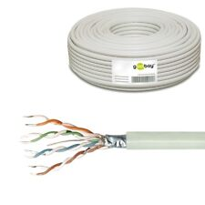 60m 0,25€/m CAT5e F/UTP Kabel Netzwerk flexibel Litze Patchkabel Ethernet LAN