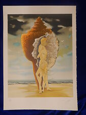 PIERRE LE COLAS - LITHOGRAPHIE / Lithograph - FEMME & HOMME & COQUILLAGE - TOP !