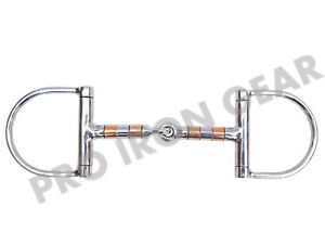 D Ring Horse Bit Snaffle Bit with Copper Rollers Bit Stainless Steel