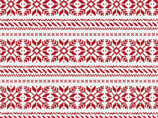Christmas Nordic Snowflakes on White Tissue Paper # 751 ~ 10 Large Sheets