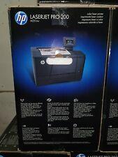 HP LaserJet Pro 200 Color M251nw Laser Printer open Box 15 pages PRINT