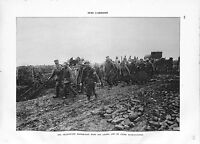 WWI Bataille Verdun Prisonniers Feldgrau Mitrailleuse Infirmiers B ILLUSTRATION