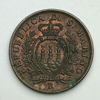 Dated : 1935 - Italy - 10 Centesimi - Ten Cent Coin - San Marino