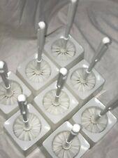 Toilet Bowl Brush Cleaner with Individual brush holder Set of 8