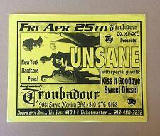 Unsane Gig Flyer Los Angeles 1997