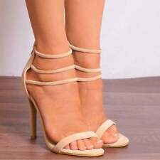 Stiletto Party Sandals Synthetic Heels for Women