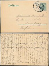 GERMANY 1910 RAILWAY TPO STATIONERY...METZ COBLENZ to EIFEL