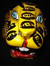 218 LEOPARDO MEXICAN WOODEN MASK WALL DECOR cheetahs wild artesania madera arte